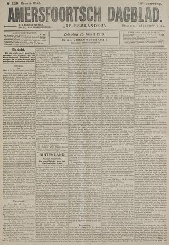 Amersfoortsch Dagblad / De Eemlander 1916-03-25