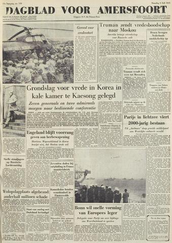 Dagblad voor Amersfoort 1951-07-09