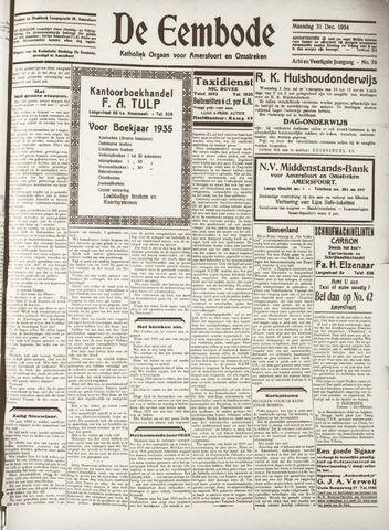 De Eembode 1934-12-31