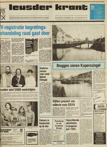 Leusder Krant 1984-11-22