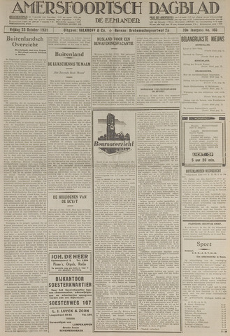 Amersfoortsch Dagblad / De Eemlander 1931-10-23