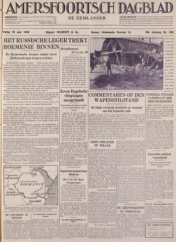 Amersfoortsch Dagblad / De Eemlander 1940-06-28
