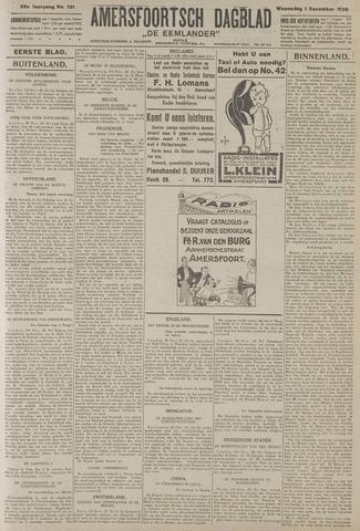 Amersfoortsch Dagblad / De Eemlander 1926-12-01