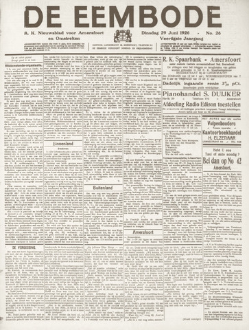 De Eembode 1926-06-29