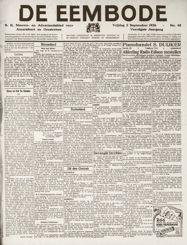 De Eembode 1926-09-03