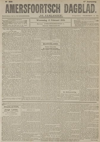 Amersfoortsch Dagblad / De Eemlander 1913-02-12