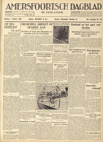 Amersfoortsch Dagblad / De Eemlander 1940-10-01