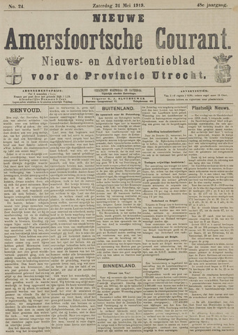 Nieuwe Amersfoortsche Courant 1919-05-31