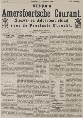 Nieuwe Amersfoortsche Courant 1914-08-22