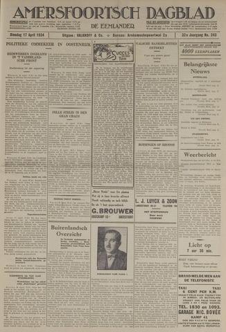 Amersfoortsch Dagblad / De Eemlander 1934-04-17