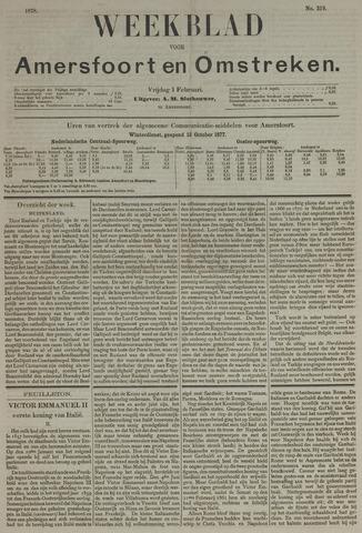 Weekblad voor Amersfoort en Omstreken 1878-02-01