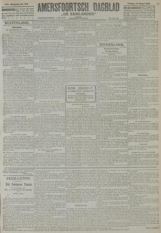 Amersfoortsch Dagblad / De Eemlander 1922-03-10
