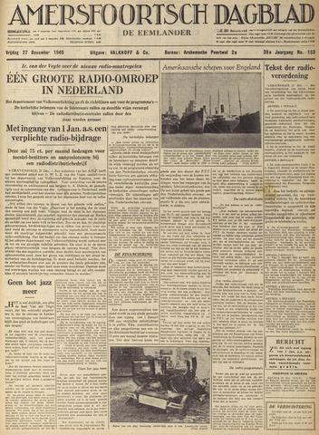 Amersfoortsch Dagblad / De Eemlander 1940-12-27