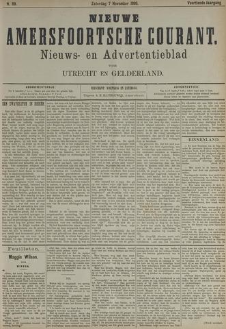 Nieuwe Amersfoortsche Courant 1885-11-07