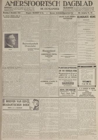 Amersfoortsch Dagblad / De Eemlander 1931-11-09