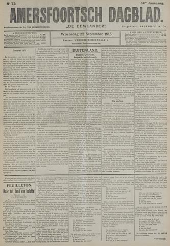 Amersfoortsch Dagblad / De Eemlander 1915-09-22