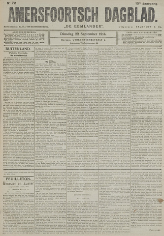 Amersfoortsch Dagblad / De Eemlander 1914-09-22