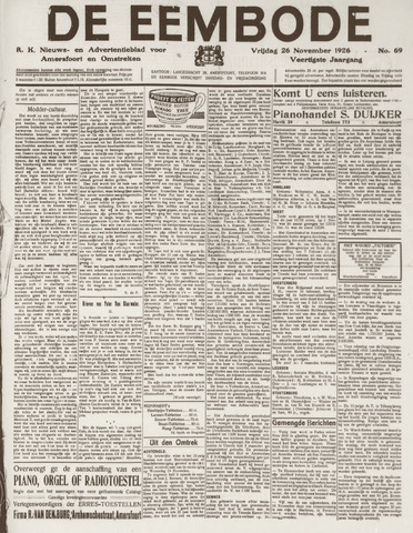 De Eembode 1926-11-26