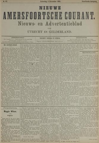 Nieuwe Amersfoortsche Courant 1885-12-05
