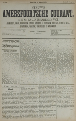 Nieuwe Amersfoortsche Courant 1884-03-29
