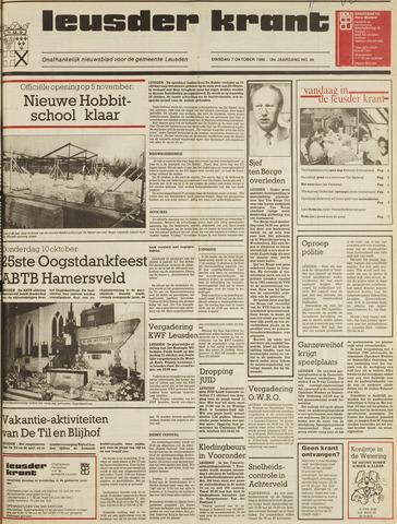 Leusder Krant 1986-10-07