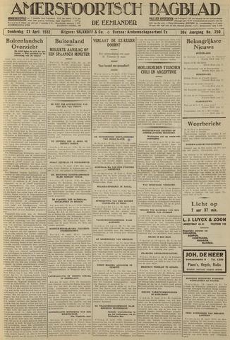 Amersfoortsch Dagblad / De Eemlander 1932-04-21