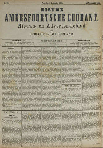 Nieuwe Amersfoortsche Courant 1886-12-11