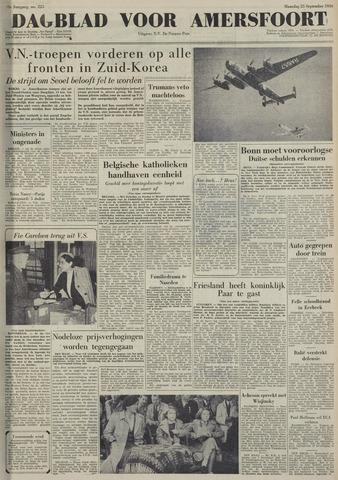 Dagblad voor Amersfoort 1950-09-25