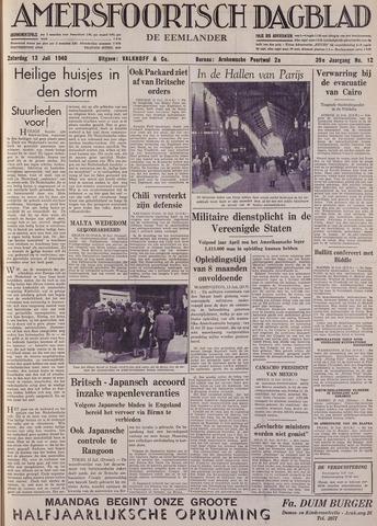 Amersfoortsch Dagblad / De Eemlander 1940-07-13