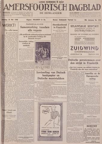 Amersfoortsch Dagblad / De Eemlander 1940-05-25
