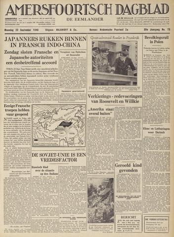 Amersfoortsch Dagblad / De Eemlander 1940-09-23