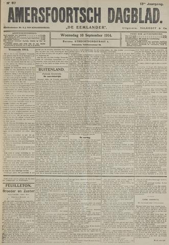 Amersfoortsch Dagblad / De Eemlander 1914-09-16