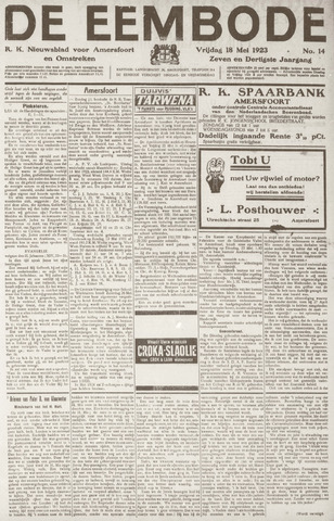 De Eembode 1923-05-18