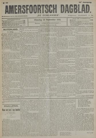 Amersfoortsch Dagblad / De Eemlander 1915-09-28