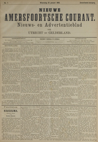 Nieuwe Amersfoortsche Courant 1888-01-25