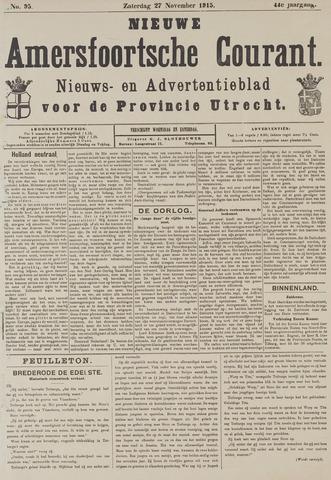 Nieuwe Amersfoortsche Courant 1915-11-27