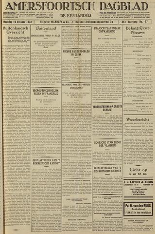 Amersfoortsch Dagblad / De Eemlander 1932-10-10