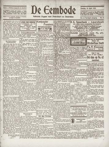 De Eembode 1932-04-19