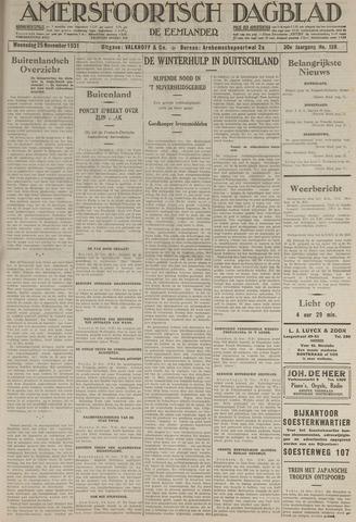 Amersfoortsch Dagblad / De Eemlander 1931-11-25