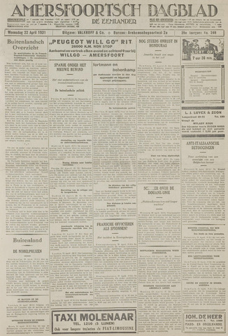 Amersfoortsch Dagblad / De Eemlander 1931-04-22