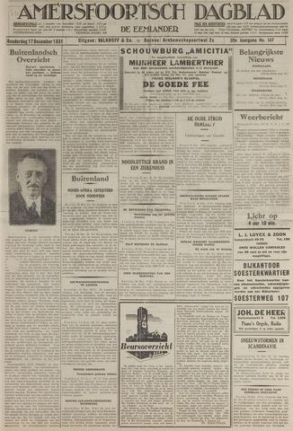 Amersfoortsch Dagblad / De Eemlander 1931-12-17