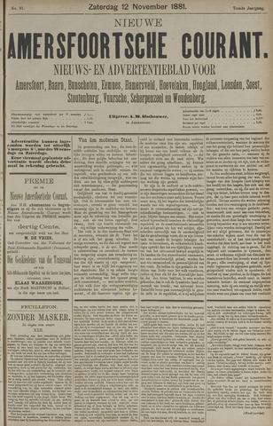 Nieuwe Amersfoortsche Courant 1881-11-12