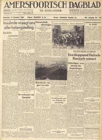 Amersfoortsch Dagblad / De Eemlander 1940-11-14