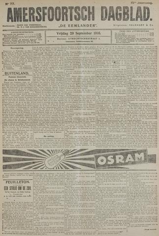 Amersfoortsch Dagblad / De Eemlander 1916-09-29