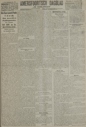 Amersfoortsch Dagblad / De Eemlander 1918-08-21