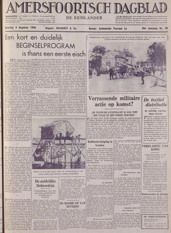 Amersfoortsch Dagblad / De Eemlander 1940-08-03