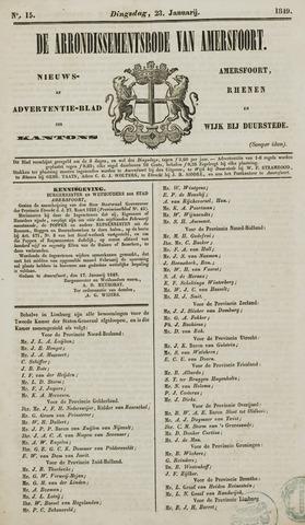 Arrondissementsbode van Amersfoort 1849-01-23