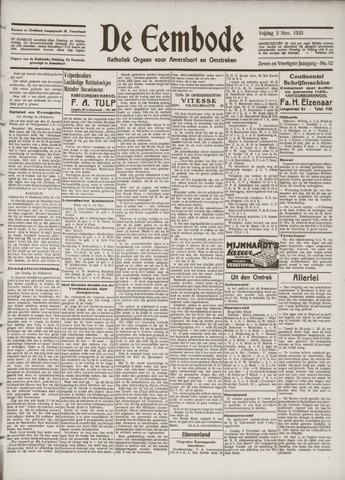 De Eembode 1933-11-03