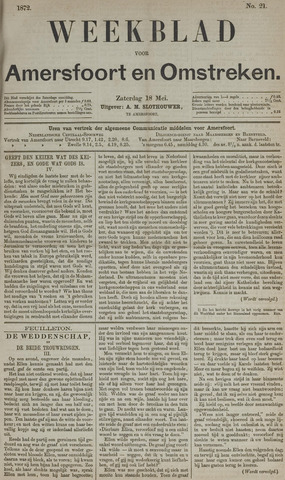 Weekblad voor Amersfoort en Omstreken 1872-05-18