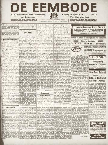 De Eembode 1926-04-16